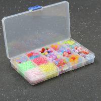 透明糖果磨砂春天色儿童饰品手工DIY礼盒散珠弱视训练益智玩具