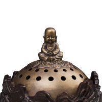自在云起线香炉香薰炉香席饰品黑檀木铜施华洛世奇镶嵌