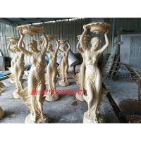 广州艺石供应砂岩泰式人物 人造砂岩1.8米泰国女人雕塑摆件 定制办公泰式风情人物雕像