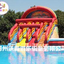 湖南常德一郊区为何聚集者这么多人在水上乐园游玩|支架水池、水上充气城堡厂家