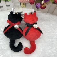 背影猫咪公仔欢乐颂2同款毛绒玩具玩偶汽车钥匙扣书包挂件