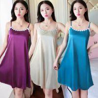 冰丝睡衣女士夏季夏款韩版甜美可爱少女女士薄款性感吊带冰丝睡裙