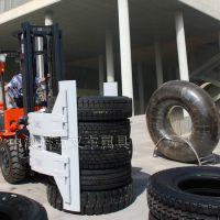 中德诺克叉车属具叉车轮胎夹用于轮胎搬运堆垛装卸轮胎搬运设备