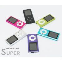 厂家直销MP3 四代mp4 1.8屏 4代有屏插卡音乐播放MP4带收音录音