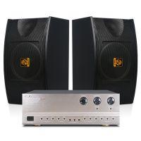 会议功放音响系统狮乐K555/BX103家庭ktv套装 家用音箱功放机套装