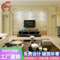 佛山批发石材罗马柱电视背景墙瓷砖欧式客厅简约现代微晶石大理石