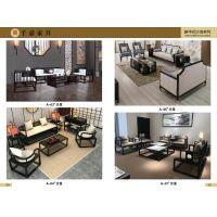 千嘉电动餐桌椅、新中式家具、酒店定制、售楼部家具
