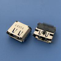 DP20PIN高清音频插座 板上插板前插后插DIP DP20PIN-音频传输母座 铜壳卷边