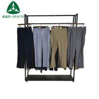 old clothes跨境现货时尚都市直筒型嵌线装饰亚麻运动男式西裤