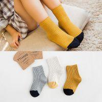 高品质全棉双针儿童袜子 森系纯棉短袜 手工缝头宝宝袜批发