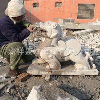 厂家直销门前石雕辟邪貔貅 花岗岩貔貅加工 招财石头貔貅价格