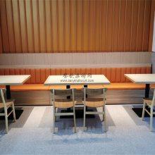 时尚年轻木桶饭品牌卡座沙发桌椅,木桶饭家具定制