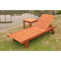 进口防腐木沙滩椅定做价格,柚木沙滩床工程