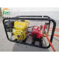 农用打药杀虫喷雾器 汽油高扬程喷药机 推车式高压汽油喷药机