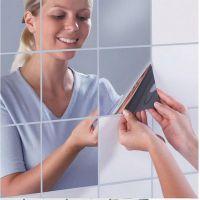 15cmx16个方块镜子创意家居装饰组合可移镜贴速卖通亚马逊爆款