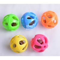 纯色五彩小铃铛球3.6厘米定做饰品摇铃玩具配件儿童宠物鹦鹉玩具