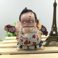 创意摇头卡通注塑pvc公仔汽车摆件 日本武士动漫人偶 塑胶公仔摆