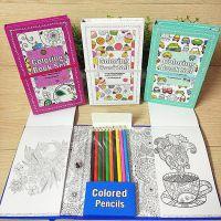 新款创意儿童减压启蒙涂鸦绘画本彩铅套装学生美术环保涂色画画本