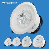 音浮LED筒灯 嵌入式LED筒灯 COB天花灯