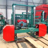 新型木工带锯机 全自动木材加工设备 卧式圆木带锯机跑车 郑州腾瀚