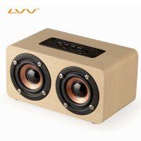 蓝牙插卡迷你音箱桌面低音炮音响户外车载便携木质MP3音响播放器