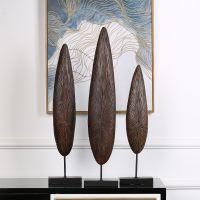 jsh创意非洲树叶树脂摆件家居家饰客厅卧室玄关摆件概念摆件工艺