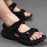 夏季男士凉鞋新款潮加肥45加大号46休闲露趾沙滩鞋47特大码48