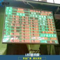 铸造厂led显示屏熔炼光谱分析数据显示大屏幕