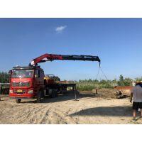 30吨7节折臂吊的作业原理及功能展示/30吨折臂吊图片大全/三石机械折臂吊