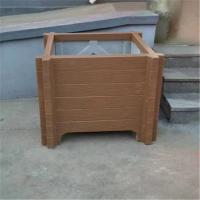 美丽乡村建设专用水泥仿木花箱 钢筋混凝土景观种植仿木花桶