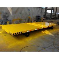 定制生产各种平板拖车 9吨工厂运输拖车 山东锐钢终生保修