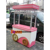 春节元宵节年货零食售货亭小吃车商场美食街木制售货车可移动摊位车定做