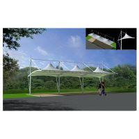 西安高尔夫张拉膜雨棚设计-西安张拉膜-高尔夫打球台张拉膜工程