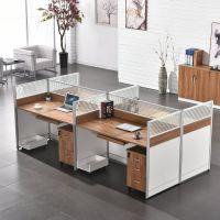 职员办公家具4人组合办公桌简约现代屏风工作位员工桌多人电脑桌
