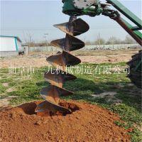 四輪車牽引式果林植樹挖坑機 大棚立柱打樁機 硬土質挖坑機