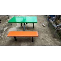 上林县学校食堂四人位连体餐桌椅厂家批发