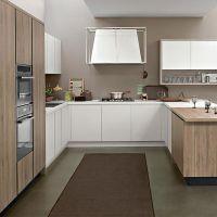 溪岸 现代简约橱柜定制整体开放式橱柜定做U形厨房厨柜灶台装修
