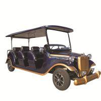 傲虎四轮电瓶老爷车采购批发价格旅游景区电动观光车蓄电池锂电池