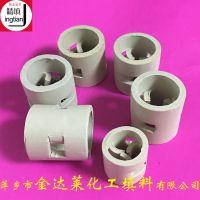 供应陶瓷鲍尔环_常规规格陶瓷鲍尔环填料有大量现货_萍乡金达莱填料