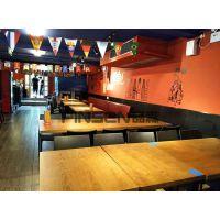 餐桌椅子来图定制酒店餐厅实木桌火烧木板材松木餐桌子老火锅 古典中式