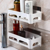 卫生间用品置物架浴室墙上壁挂厕所免打孔洗手间洗漱用品收纳架子