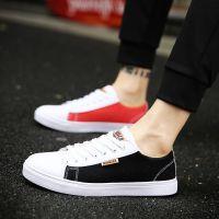 夏季透气帆布鞋男韩版潮流学生白色鞋子男士休闲鞋百搭布鞋男板鞋