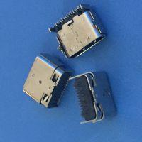 TYPE-C 16P 24P 母座 L=7.63 板上3.0 双包壳 半包 四脚插板