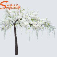 厂家直销白色仿真樱花树 酒店婚礼迎宾树桃花树 仿真树定制