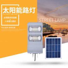 户外农村建设防水太阳能路灯 智能光控高杆80W双头LED庭院灯