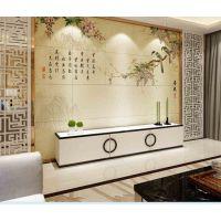 厂家客厅沙发电视背景墙雕刻欧式瓷砖理石3D微晶石简约电视墙磁砖