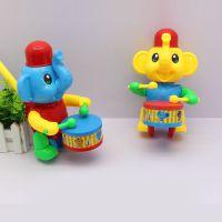 0356宝宝手推动物车学步车卡通大象手推打鼓玩具车热卖厂家直销