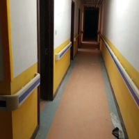 程益防护/沿墙扶手批发 PVC老年公寓走廊墙壁专用铝合金医院防撞扶手