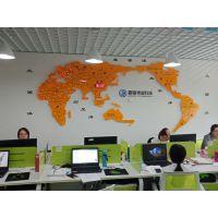 工厂吧台背景墙装饰 SPC世界业务往来显示屏