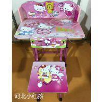热销儿童学习桌椅套装可升降学生书桌椅子卡通款学生桌椅一件代发